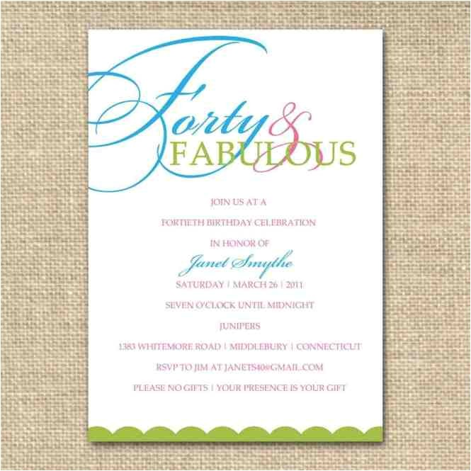 drop off party invitation wording