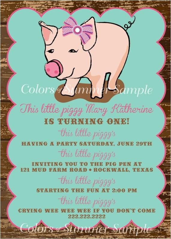 piggy invitation this little piggy poem