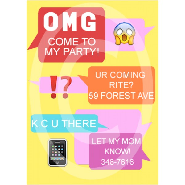 text message birthday invite