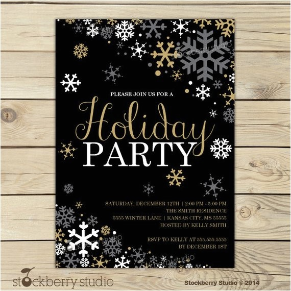christmas party invitation holiday party invitation 9