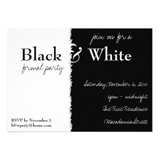 black and white theme party invitation 161799541373983515
