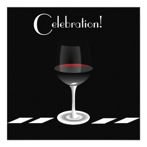 cocktail party invitation in black and white 161041958066381476