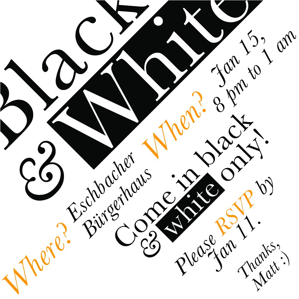 Black White Party Invitation Wording Black and White Party Invitation Cimvitation