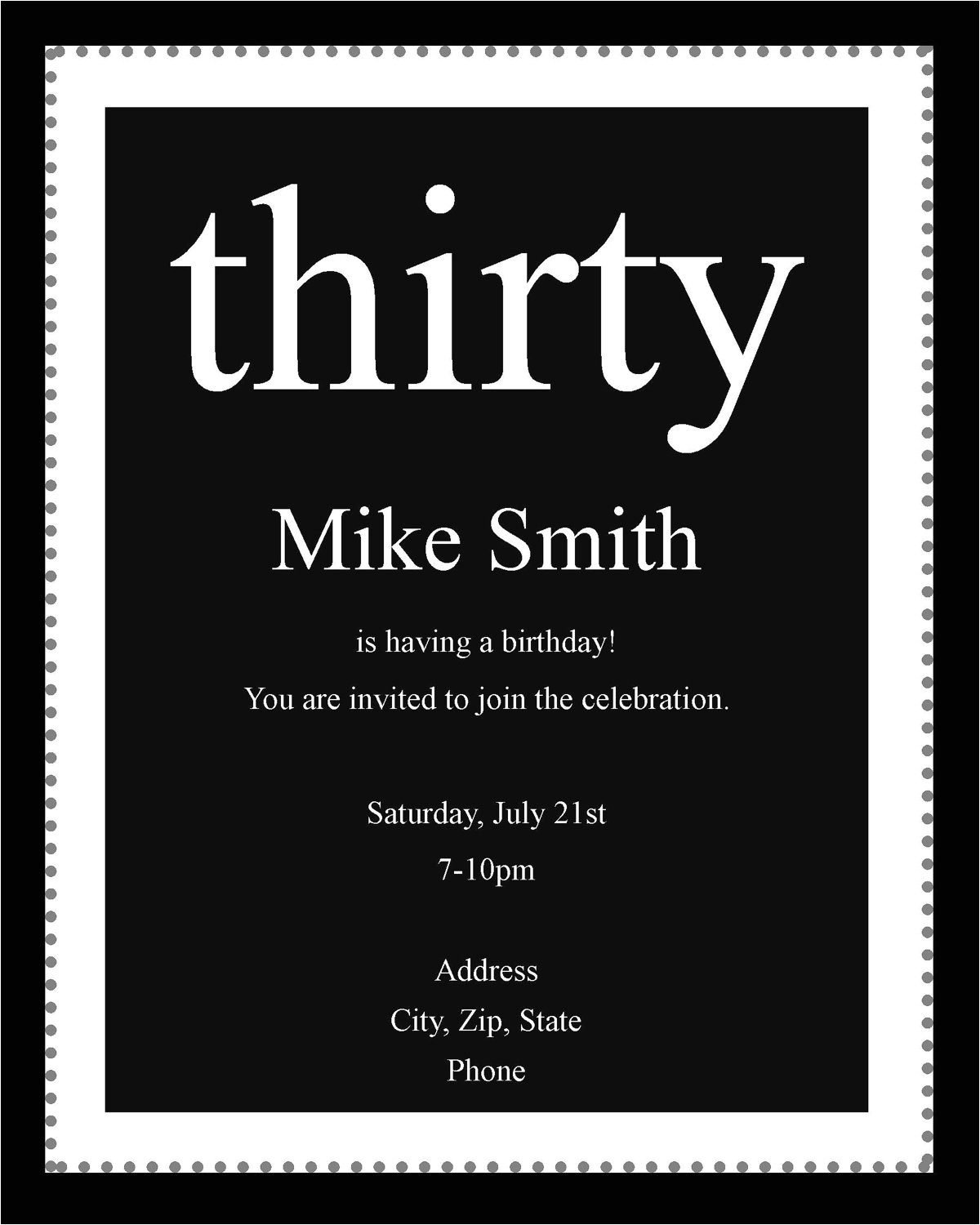 white party invitation wording black and white party theme invitations black and white birthday