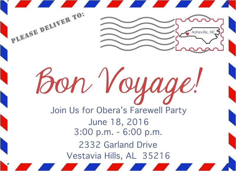 4104 bon voyage invitation