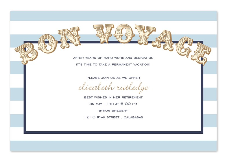 bon voyage party invitations
