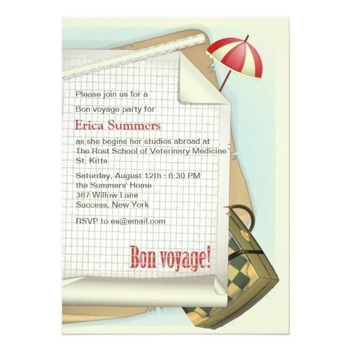 bon voyage party invitation 161661935041590061
