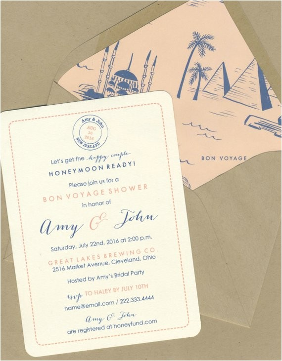 bon voyage shower invitations