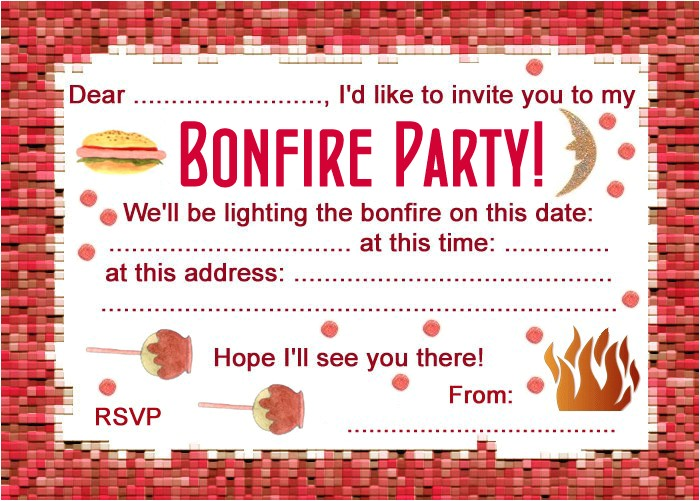 Bonfire Party Invitations Free Party Invitation Bonfire Night Rooftop Post Printables