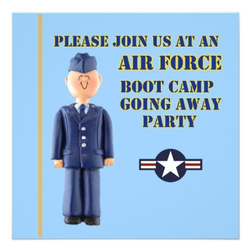 air force boot camp going away party invitation 161903559657127681