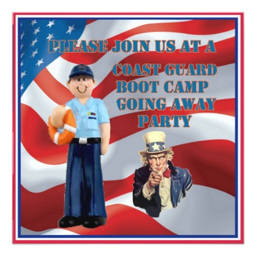 coast guard boot camp going away party invitation 161889354144094443