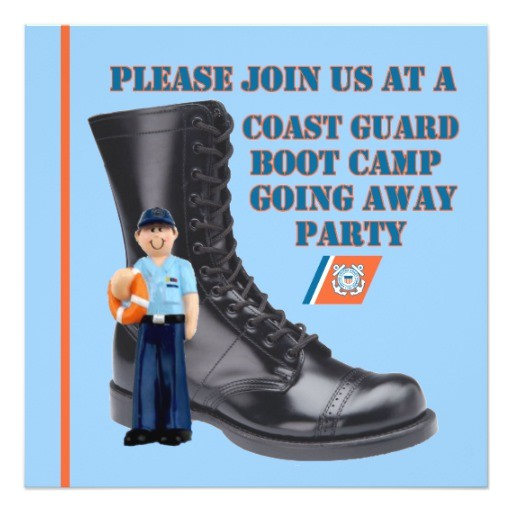uscg boot camp going away party invitation 161056945756812589