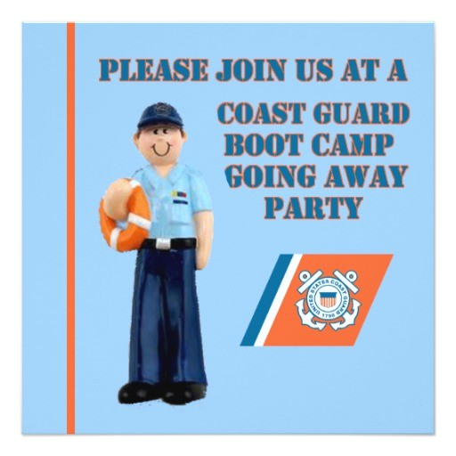 Boot Camp Going Away Party Invitations Uscg Boot Camp Going Away Party Invitation Zazzle