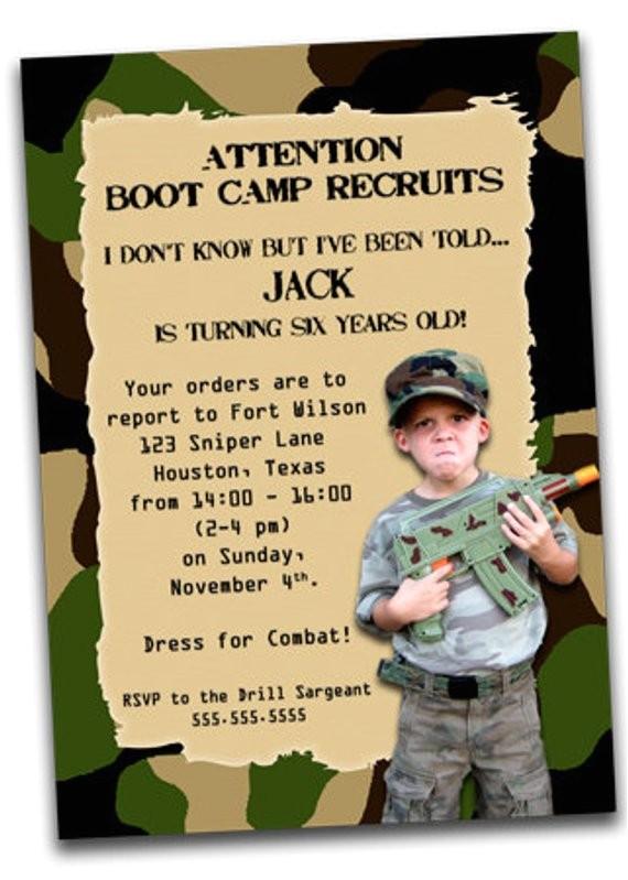printable army boot camp birthday