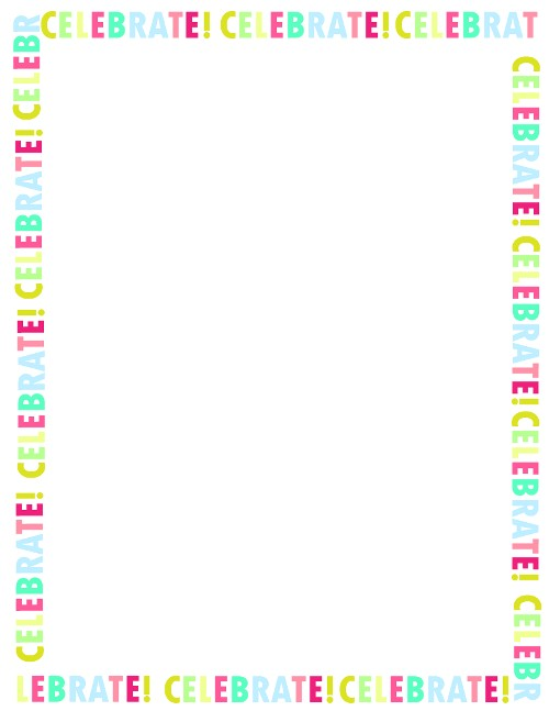 Borders for Party Invitations Free 6 Free Borders for Birthday Invitations