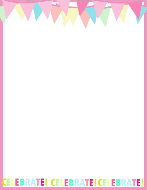 Borders for Party Invitations Free Fresh Designs Birthday Borders for Invitations and More