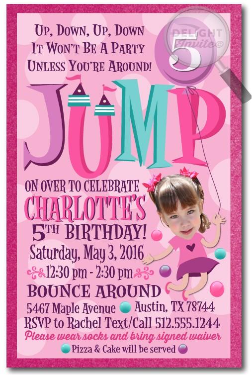 jumpy birthday party invitation p 1706