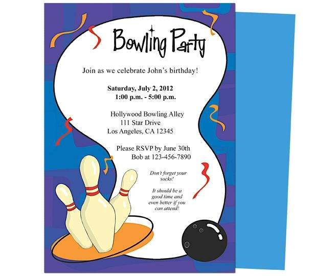Bowling Party Invitation Template Word It 39 S A Bowling Birthday Invitations Template Printable