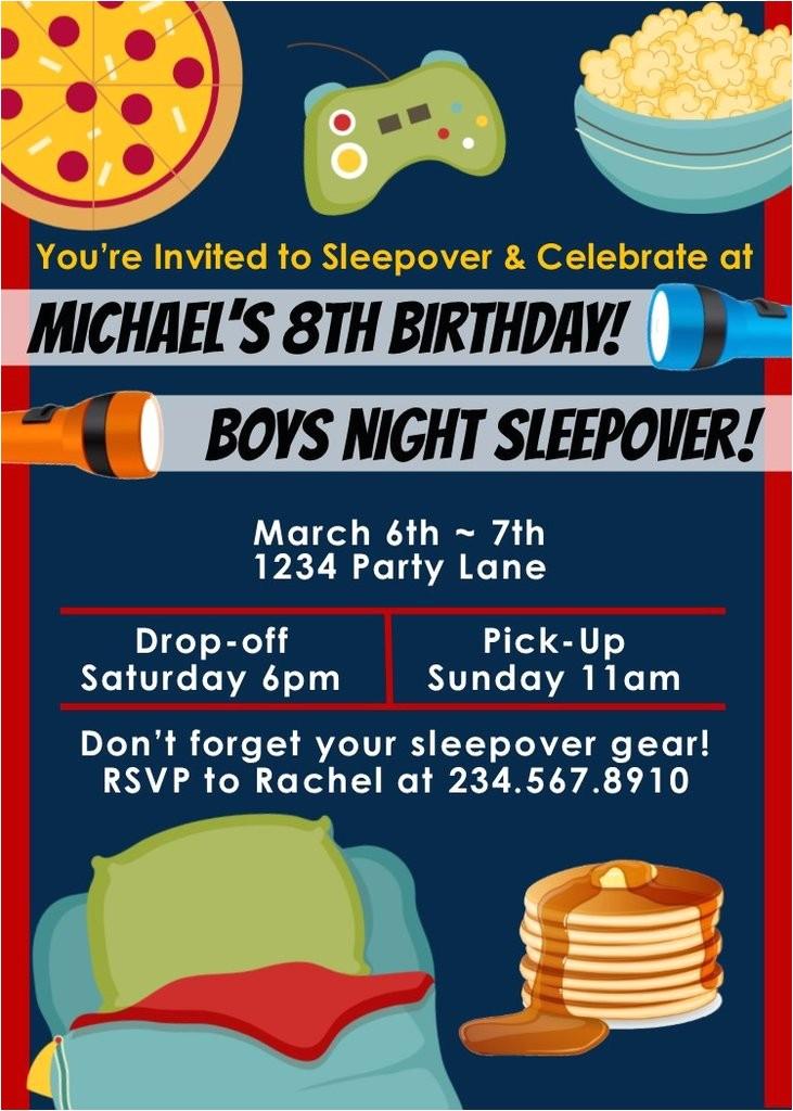 Boys Slumber Party Invitations top 10 Boys Sleepover Games