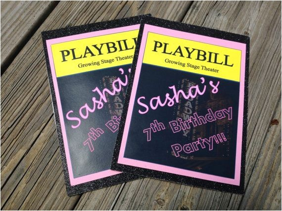 sashas broadway birthday party