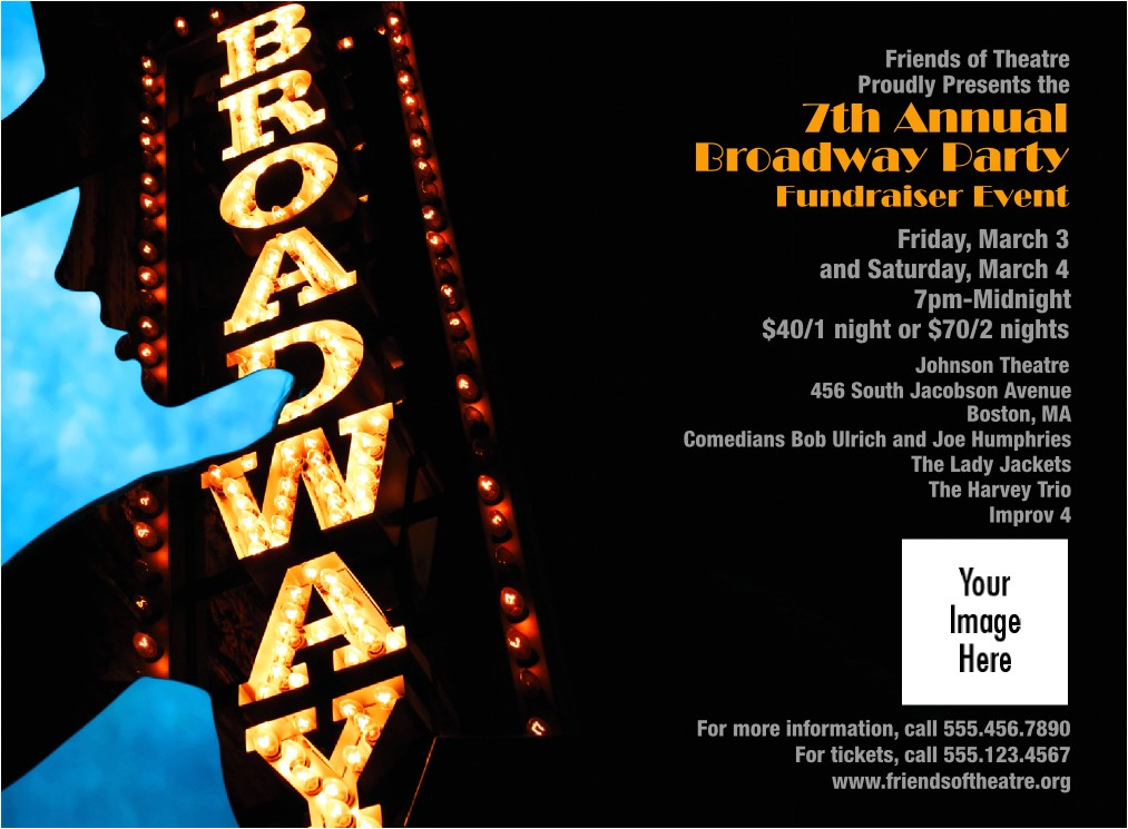 broadway invitation redesigned product