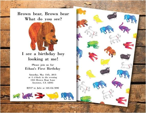 brown bear brown bear 1st birthday