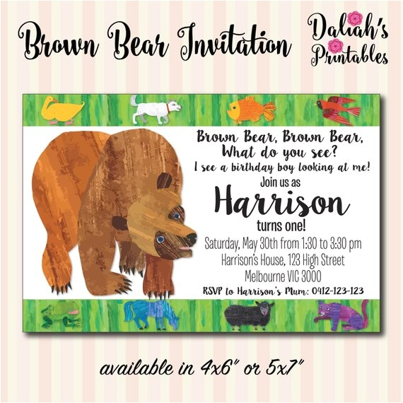 brown bear brown bear invitation