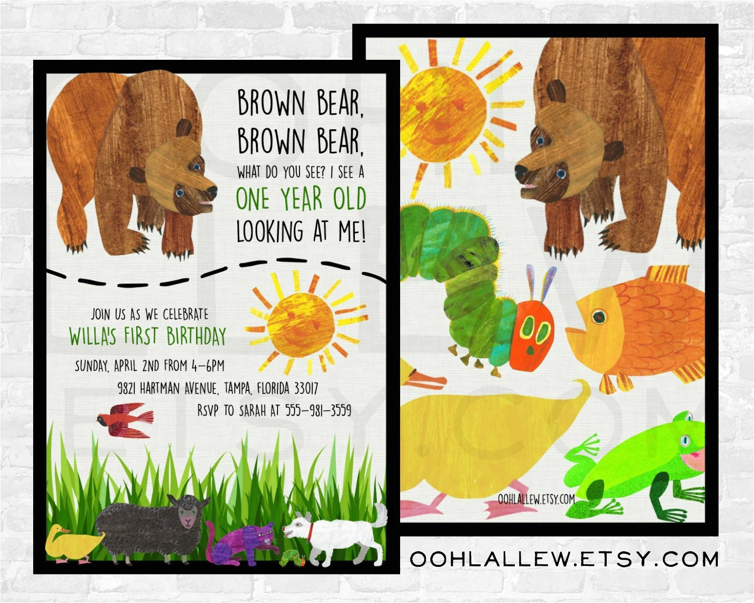 brown bear invitation brown bear