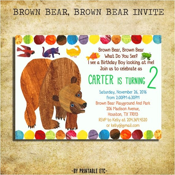 brown bear brown bear birthday