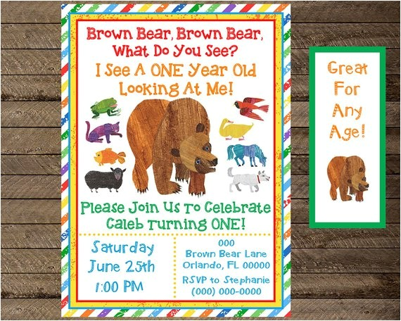 brown bear invite brown bear invitation