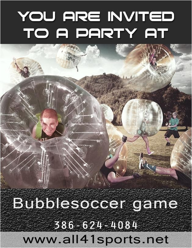ryans bubble soccer party
