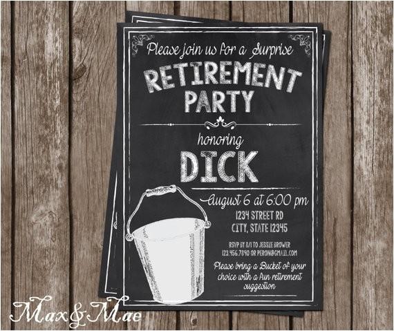 bucket list retirement invitation bucket