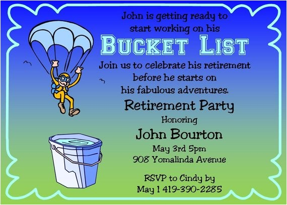retirement party invitations bucket list ref related 3