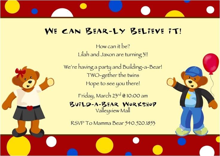build a bear party ideas
