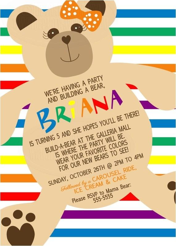 build a bear inspired invitation build a