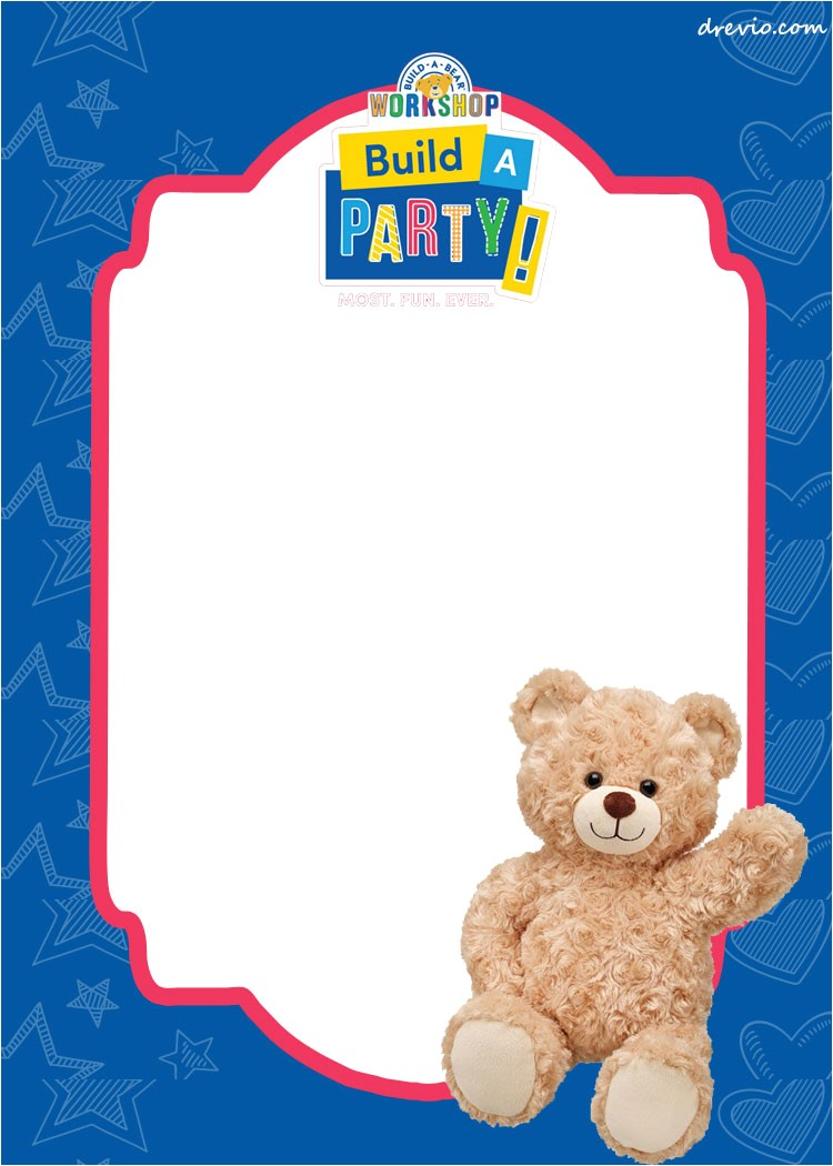 Build A Bear Party Invitations Printable Free Build A Bear Birthday Invitation Template Free