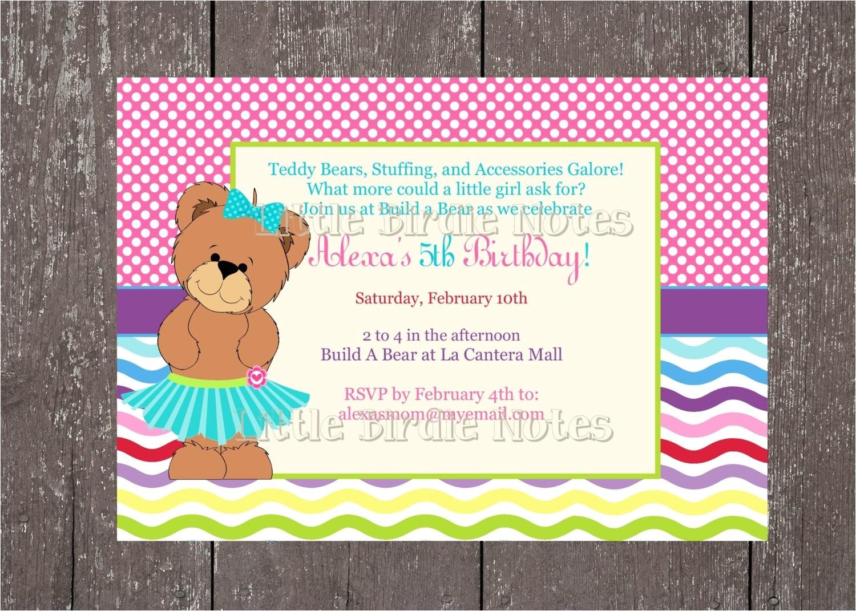 teddy bear party build a bear birthday