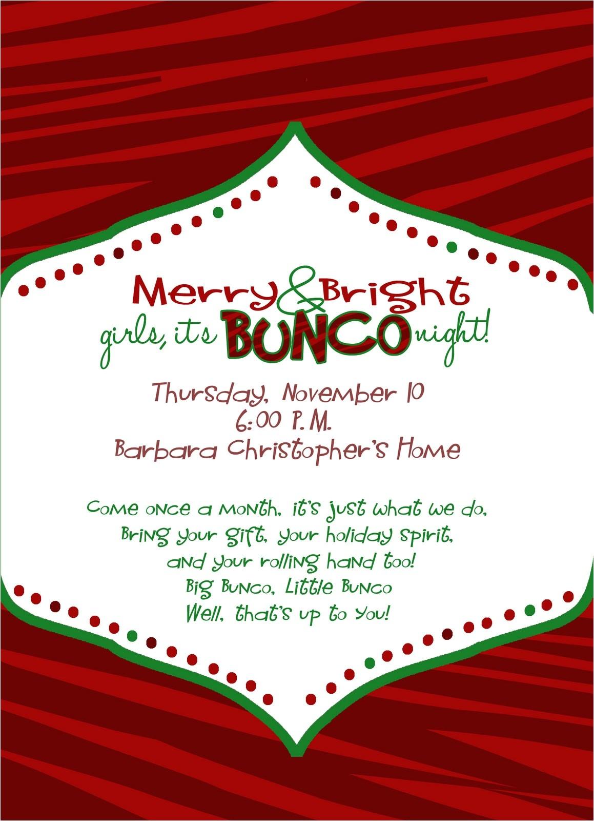 bunco invitations template free