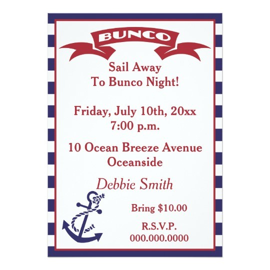 bunco invite red white and blue 256086348674901580