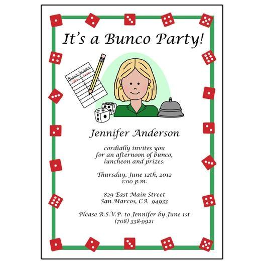 bunco party invitations