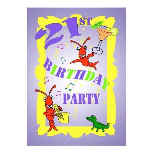 cajun themed 21st birthday party invitation 161222852731404783