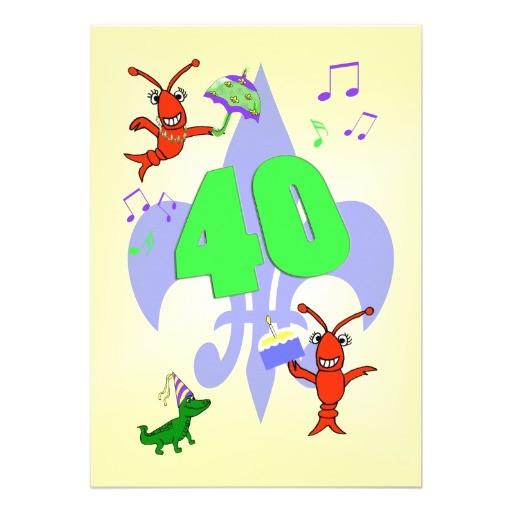 cajun themed 40th birthday party invitation 161719547149887278