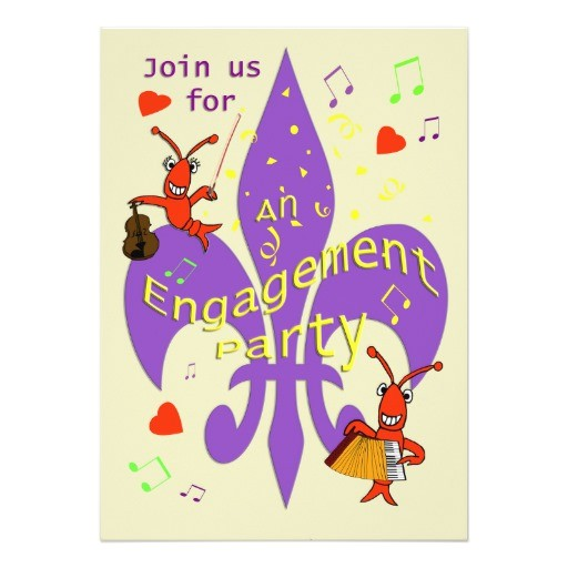 cajun themed engagement party invitation 161448528716832554