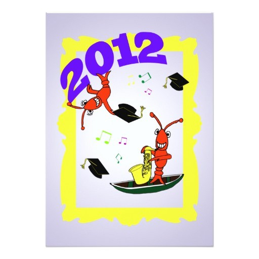 cajun themed graduation 2012 party invitation 161230656544251050