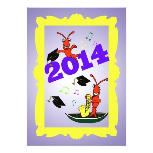 cajun themed graduation 2014 party invitation 161840401985945632
