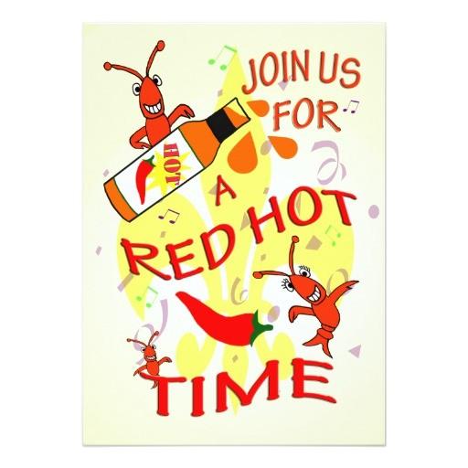 cajun themed party invitation 161857396225404022