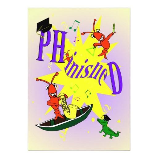 cajun themed ph d party invitation 161968848557495100