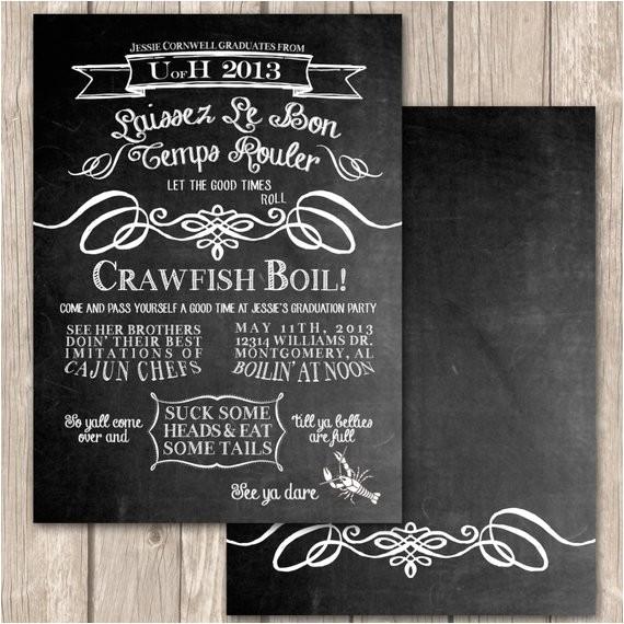 cajun crawfish boil invitations unique