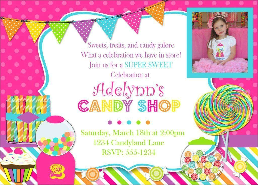 candyland theme party invitations