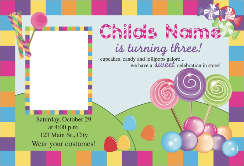 free printable candyland invitation blank template